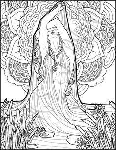 fantasy coloring pages for adults # 8