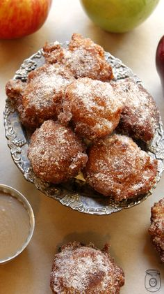 Apple Fritters Italian Style with Caramel Dipping Sauce - The Cottage Market