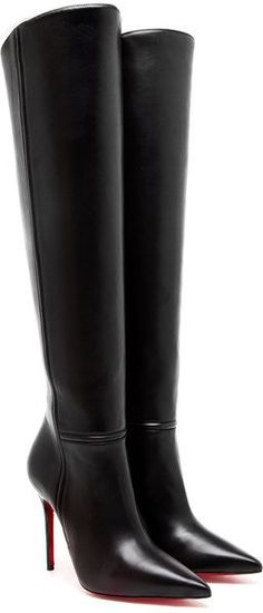 LOUBOUTIN Armurabotta Leather Kneehigh Boots -