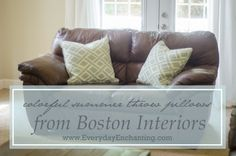 Summer Throw Pillows Giveaway!