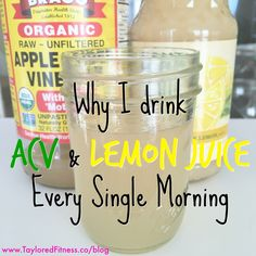 The Benefits of drinking Apple Cider Vinegar and Lemon Juice every single morning!