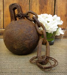 Authentic Prison Ball And Chain – circa by City & Sea Vintage available at Withal now. Patina Metal, Rusty Metal, Pena Capital, Rust Never Sleeps, French Collection, Great Wedding Gifts, Funeral, Historical Artifacts, Iron Decor