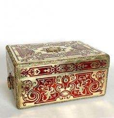 French Boulle Vanity Chest, Baccarat RARE