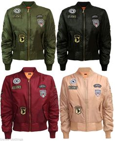 patched women bombers Nylon Bomber Jacket, Cool Bomber Jackets, Vest  Jacket, Custom Patches e3a475862c