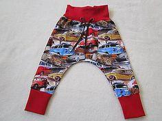 Detské oblečenie - Tepláčiky autá v červenom - 8261599_