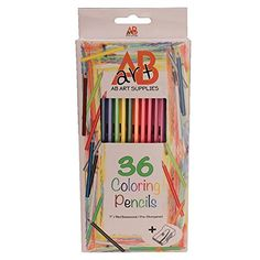 """Colored Pencils - 36 Artist Quality Coloring Pencils for Adults & Kids. Pre-Sharpened Color Pencil Set + Free Sharpener in Convenient Holding Tray. 7"""" Top Quality Basswood, Best Grip Hexagonal Shape, Popular Colors, Art... AB Art Supplies http://www.amazon.com/dp/B012ANUNR4/ref=cm_sw_r_pi_dp_zuuAwb1TV746Q"""