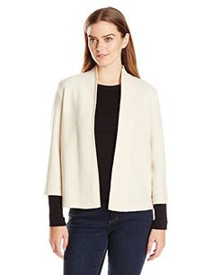 Anne Klein Womens Open Front Wool Cardigan Sailcloth Medium >>> Learn more by visiting the image link.(This is an Amazon affiliate link)