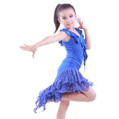 Childrens Latin Salsa Ballroom Dance Dress Girls Dancewear ...