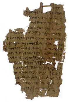 Papyrus manuscript of the Book of Revelation, it contains only Rev 1:4-7. Dates from around 300 AD and is located at the British Library in London England.