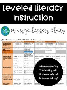 Lli Lesson Plan Template Green Kit  Leveled Books Lesson Plan