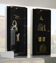 Rossetto Diamond Black Curio 1 door (left)