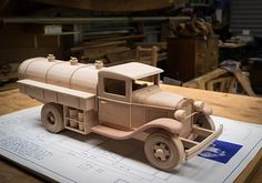 Gas & Oil Truck | Made from Toys and Joys plan. | 45South | Flickr Wooden Toy Cars, Wooden Truck, Rockler Woodworking, Woodworking Projects, Combi Wv, Awesome Woodworking Ideas, Wood Toys Plans, Wood Turning Projects, Wood Projects