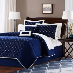 1000 Images About Navy Blue Comforter Sets On Pinterest