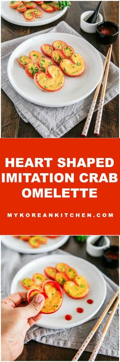 How to make heart shaped imitation crab omelette