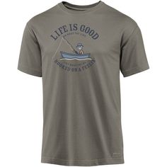 Life is Good - Men`s Hooked On A Feelin` T-Shirt #ForDad #FathersDay