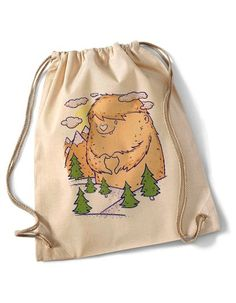 """Love nature""  Cotton Gymsack/Turnbeutel natur von MAD IN BERLIN auf DaWanda.com"