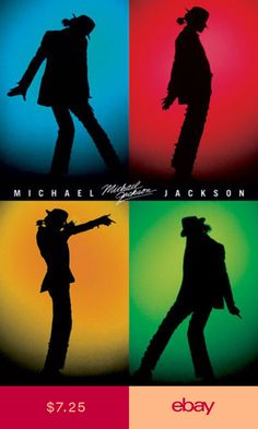 Michael Jackson music poster Sillouette of dance moves - moonwalk Michael Jackson Party, Michael Jackson Poster, Michael Jackson Images, Michael Jackson Wallpaper, Paris Jackson, Michael Jackson Silhouette, Band Poster, Jackson Music, Jackson Family