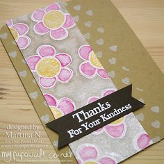 Thank you card Paper Divas, Your Cards, I Card, Thank You Cards, Stamps, Card Making, Corner, Blog, Appreciation Cards