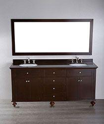 73'' Bosconi SB-261 Contemporary Double Vanity #HomeRemodel #BathroomRemodel #BlondyBathHome #BathroomVanity