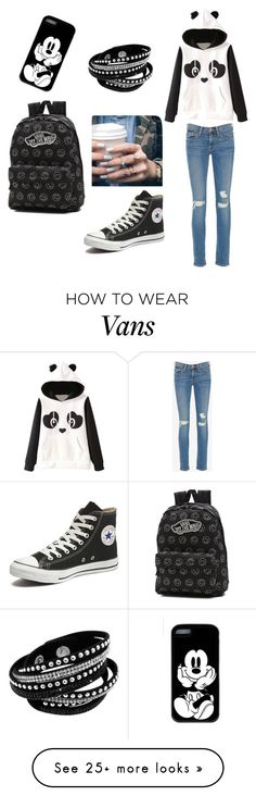 """Untitled #2"" by little-fashion-lover on Polyvore featuring Garcia, Frame Denim, Converse, Vans and Floss Gloss"