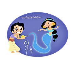 Walt Disney Fan Art - Aladdin & Princess Jasmine - walt-disney-characters Fan Art