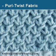 Purl-Twist Fabric stitch. Pattern includes written instructions and video tutorial