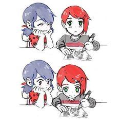 ♡ Miraculous Ladybug ♡ (3/3) little Nathaniel (Nathanael) x little Marinette