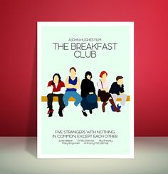 Unique minimalist art print inspired by the library scene from the 1980s classic movie, The Breakfast Club.  This item has proved to be the most popular from my shop and has been favourited by over 2000 people.  Print is available in two sizes, A4 (210x297mm) and A3 (297 x 420mm) and set onto high quality 260gsm Canon Photographic Plus Glossy II Paper.  If you are buying from outside the UK then delivery times may take a little longer. Each print will be posted 2-3 days after receiving the…