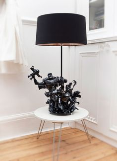 action figure lamps.  nerdy... i like!
