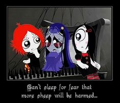 Ruby Gloom, - Misery counting sheep Rilynne used to love this show when we has Netflix. I love the intro song.