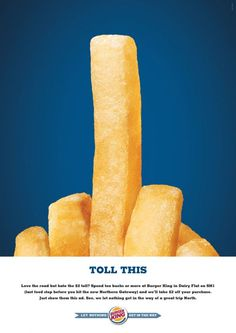 Burger King: Toll this | Ads of the World™