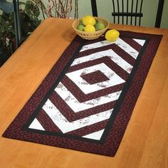 Table Runner Sewing Patterns   Bracket Brigade table runner would look great on a dining room table ...