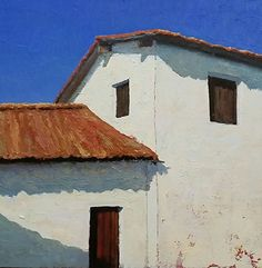 The Presidio by Steve Richardson Oil ~ 20 x 20 California Art, Artist At Work, Oil On Canvas, Coastal, Architecture, Abstract, Oil Paintings, Arquitetura, Summary