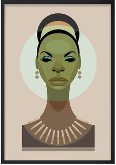 Affiche Nina Simone - The Stanley Chow Print