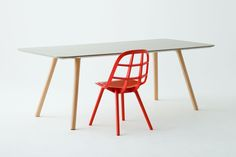 Nadia Chair and Dining Table ideasgn by Jin Kuramoto Studio