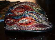 My Swarovski crystal motorcycle helmet from Mystic Icing!  (It's featured on the Facebook website!)
