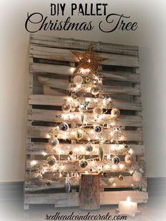 Afbeeldingsresultaat voor decoration noel palette et rondin d arbre