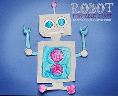 FREE PRINTABLE CRAFT: Robot ~ from LearnCreateLove.com