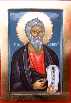 Andrew by Cozma Andrei Religious Paintings, St Andrews, Orthodox Icons, Saints, Creations, Children, Atelier, Young Children, Boys