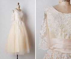 vintage repro wedding dress 1950s lace tulle full skirt white justin alexander | eBay