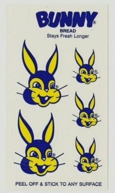 Bunny Bread logo stickers - classic New Orleans