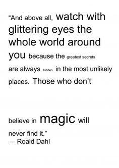 I love it when adults talk about magic.