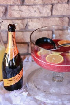 Holiday Prosecco Punch - yummy 3 ingredient punch using Mionetto Prosecco! (Content for 21+) #ad MyMionetto