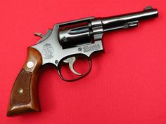 SMITH & WESSON MODEL 45 Scarce '.22 M&P / POST OFFICE REVOLVER' Fixed Sight K22 22 LONG RIFLE