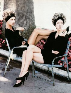 """The Sisters"" featuring Christy Turlington & Linda Evangelista by Ellen von Unwerth for Vogue Italia July 1990"