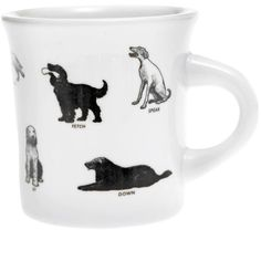 Dogs Mug (21 CAD) ❤ liked on Polyvore featuring home, kitchen & dining, drinkware and dog mug