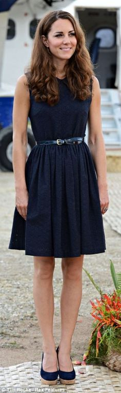Kate Middleton. Love the dress and  shoes. She has the most classic sense of style.