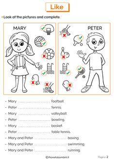 English Grammar For Kids, English Worksheets For Kids, English Lessons For Kids, English Verbs, English Activities, English Writing, English Vocabulary, Teaching English, Learn English