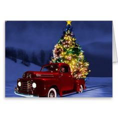 Christmas Truck Blank Card #Christmas #holiday #cards