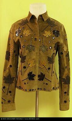 Prada leaf applique suede jacket, F/W 1999, eBay